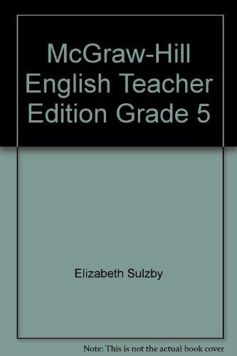 9780070422803: McGraw-Hill English Teacher Edition Grade 5