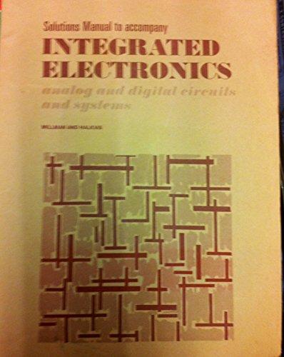 9780070423169: Integrated Circuits: Analog Digital Circuits and Systems: Solutions Manual