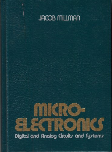 9780070423275: Microelectronics: Digital and Analog Circuits and Systems (McGraw-Hill series in electrical engineering)