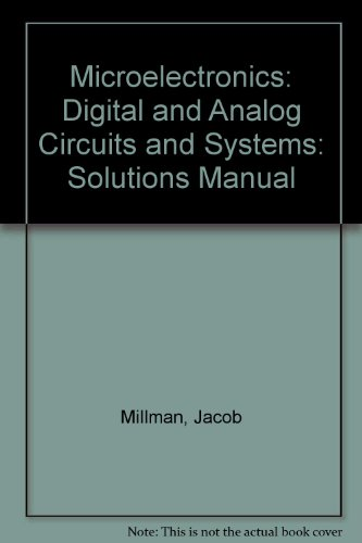 9780070423282: Microelectronics: Digital and Analog Circuits and Systems: Solutions Manual