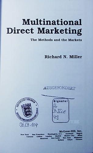 9780070423565: International Direct Marketing
