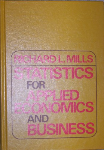 9780070423725: Statistics for Applied Economics and Business