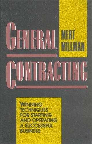 9780070423824: General Contracting: Winning Techniques for Starting and Operating a Successful Business