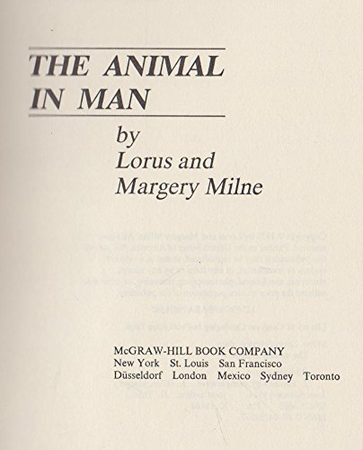 9780070423855: The animal in man,