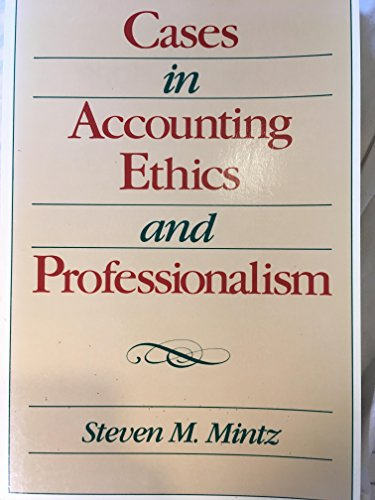 9780070425040: Cases in Accounting Ethics and Professionalism