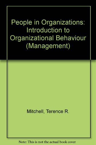 9780070425309: People in Organizations: Introduction to Organizational Behaviour (Management)