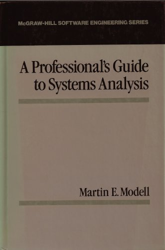 9780070426320: Professionals Guide to Systems Analysis (Mcgraw Hill Software Engineering Series)