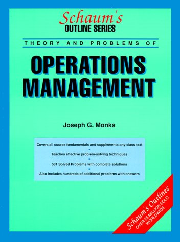 9780070427266: Schaum's Outline of the Theory and Problems of Operations Management (Schaum's Outline Series)
