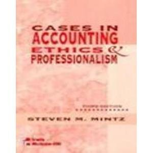 9780070428348: Cases In Accounting Ethics and Professionalism