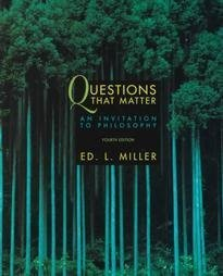 9780070428362: Questions That Matter: An Invitation to Philosophy (Fourth Edition)