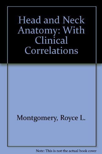 9780070428539: Head and Neck Anatomy: With Clinical Correlations