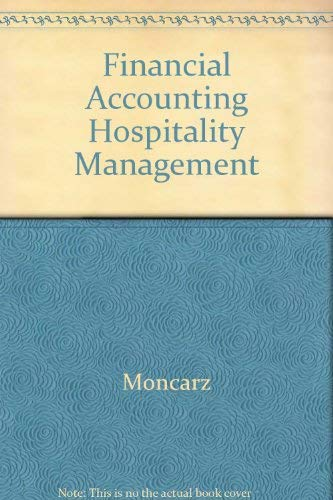 9780070430334: Financial Accounting for Hospitality Management