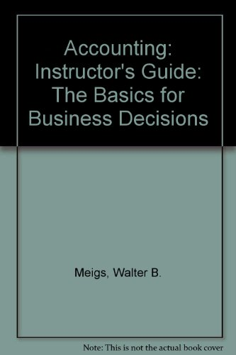 9780070430778: Accounting: Instructor's Guide: The Basics for Business Decisions