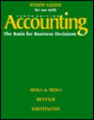 9780070432024: Study Guide for Use With Accounting: The Basis for Business Decisions