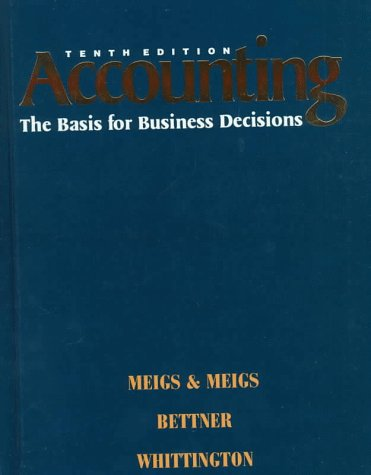 9780070433601: Accounting: The Basis for Business Decisions (10th ed)