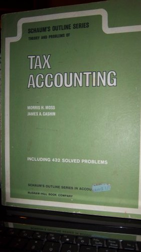 9780070434707: Schaum's Outline of Theory and Problems Tax Accounting