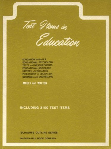 9780070435407: Test Items in Education (Schaum's Outline)