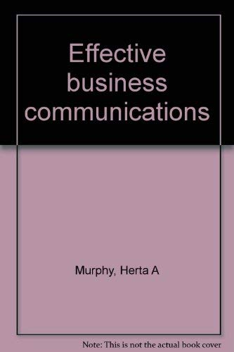 9780070440616: Effective Business Communications