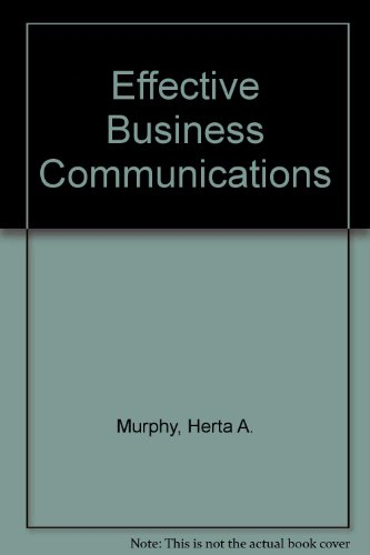 9780070440913: Effective Business Communications