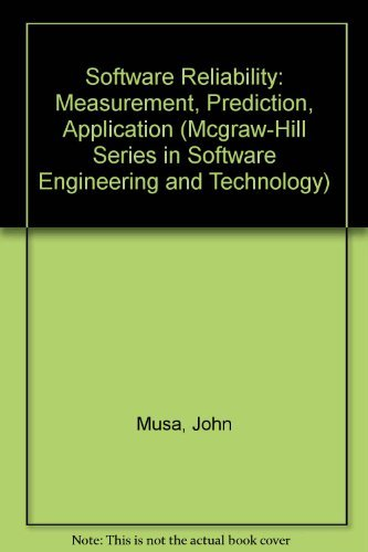 9780070440937: Software Reliability: Measurement, Prediction, Application (Mcgraw-Hill Series in Software Engineering and Technology)