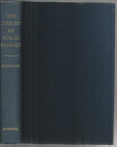 9780070441156: Theory of Public Finance