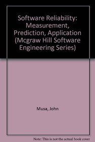 9780070441194: Software Reliability: Measurement, Prediction, Application (Mcgraw Hill Software Engineering Series)