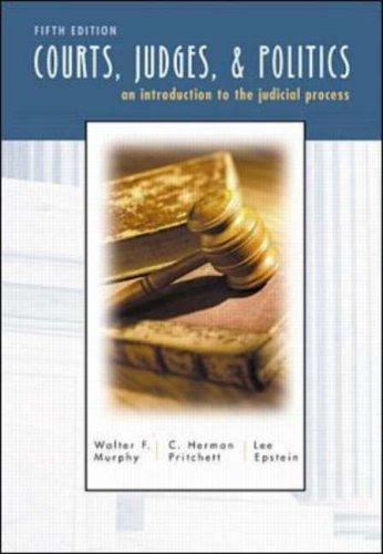 9780070441675: Courts, Judges, and Politics