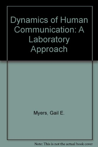 9780070442122: The dynamics of human communication: A laboratory approach