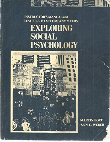 9780070443020: Exploring Social Psychology: Instructor's Manual/Test Bank