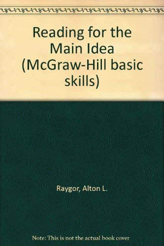 9780070444171: Reading for the Main Idea