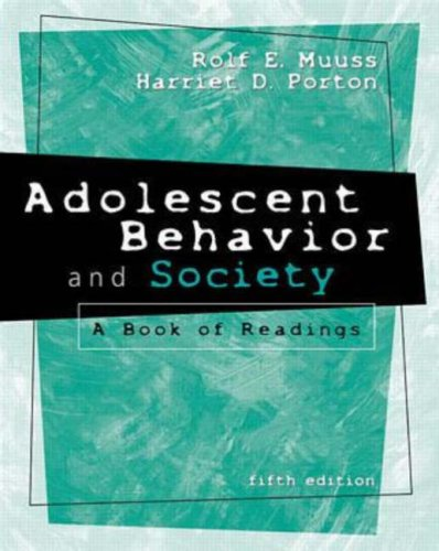 9780070444225: Adolescent Behavior & Society: A Book of Readings