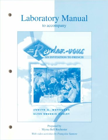 9780070444393: Lab Manual to accompany Rendez-vous: An Invitation to French