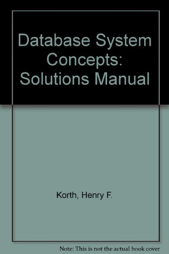 9780070447554: Database System Concepts: Solutions Manual