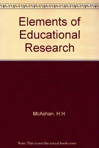9780070448087: Elements of Educational Research