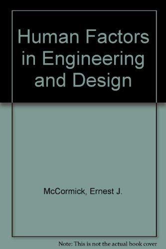 9780070448865: Human Factors in Engineering and Design