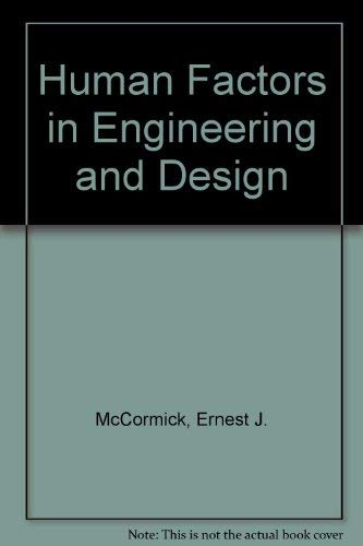 9780070448865: Human factors in engineering and design