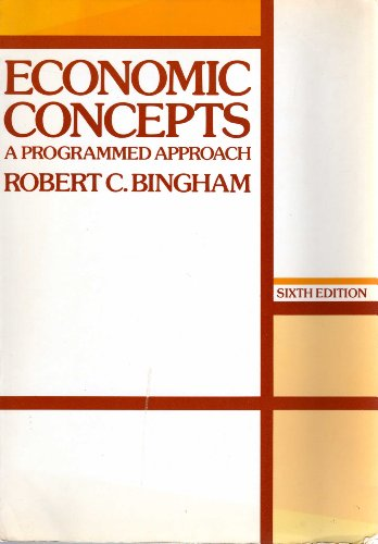 9780070449367: Economic concepts: A programmed approach