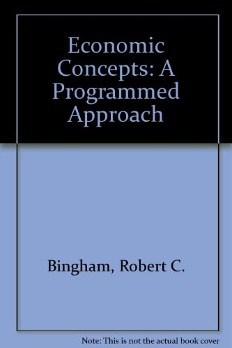 9780070449633: Economic Concepts: A Programmed Approach