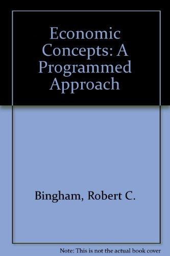 9780070449633: Economic Concepts: A Programmed Approach
