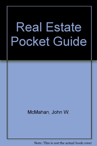9780070454545: McGraw-Hill Real Estate Pocket Guide: Up-To-Date Terms and Tables for the Real Estate Professional.