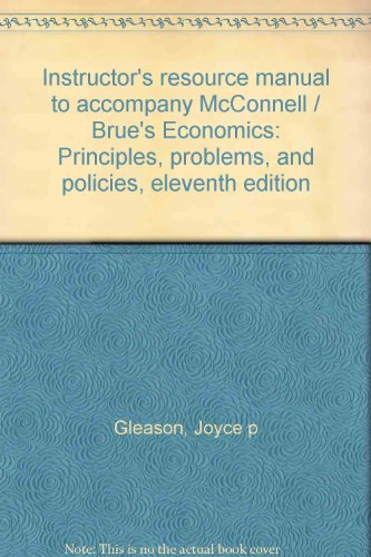 Instructor's resource manual to accompany McConnell /: Gleason, Joyce p