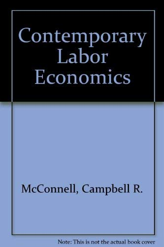 9780070455559: Contemporary Labor Economics