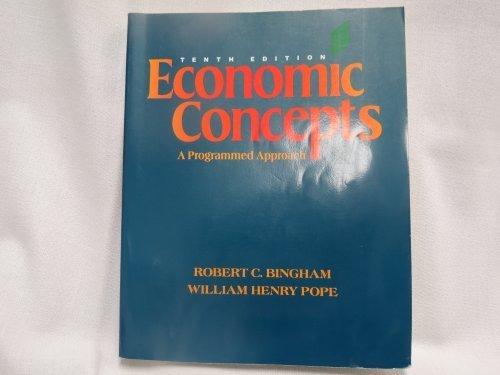 9780070455917: Economic Concepts: A Programmed Approach