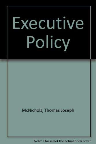 9780070456839: Executive Policy and Strategic Planning