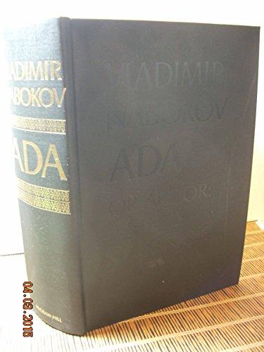 9780070457201: Ada, Or Ardor: A Family Chronicle