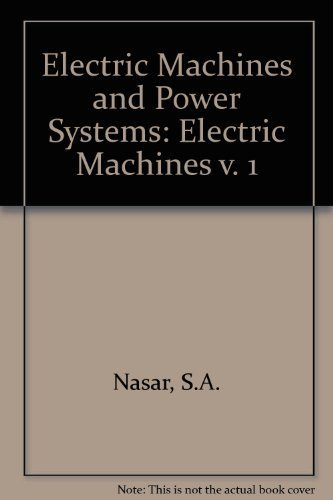 9780070459588: Electric Machines and Power Systems: Electric Machines v. 1