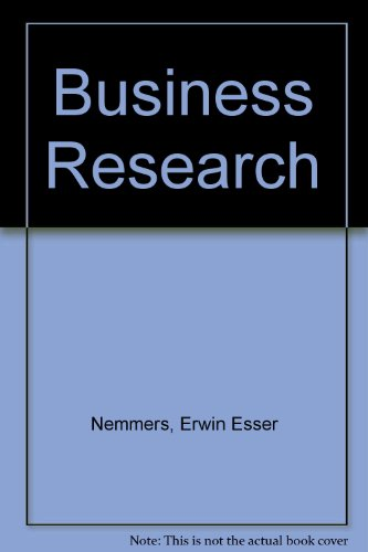 9780070462694: Business Research