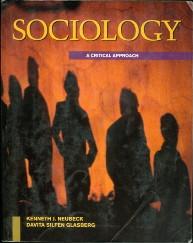 9780070463158: Introduction to Sociology: A Critical Approach