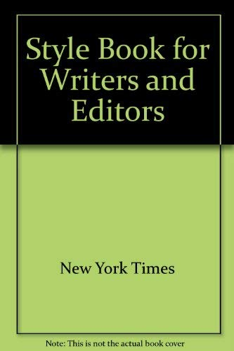 9780070463653: Style Book for Writers and Editors
