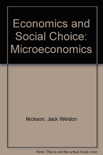 9780070465190: Economics and Social Choice: Microeconomics